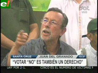 """Del Granado: """"Votar NO también es un derecho"""""""
