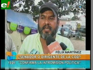 """Critican a senador """"masista"""" Félix Martínez por dirigir sector de la COD"""