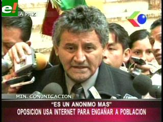 """Canelas minimiza supuestas amenazas de """"Anonymous"""""""