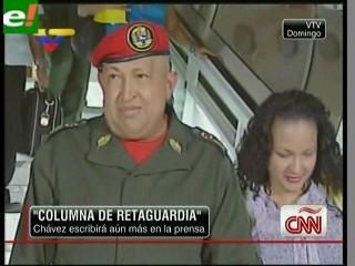 """Chávez dice que está """"inmejorable"""" y anuncia nueva columna en diario estatal"""