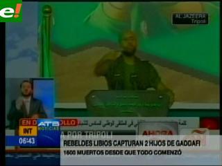 Rebeldes capturan a dos hijos de Gadafi