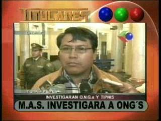 El MAS pide investigar a 22 ONG's por presunto complot contra el Gobierno