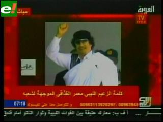 Desde su escondite Gadafi llama a la resistencia en Libia