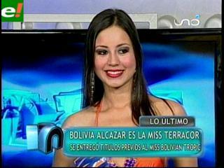 Bolivia Alcázar es Miss Terracor 2011