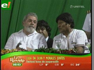 Lula y Evo hablaron de integración