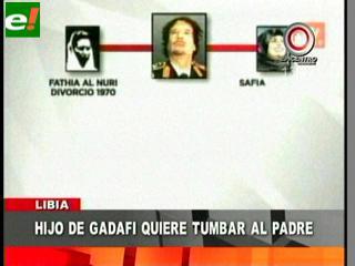 Un hijo de Gadafi se rinde a los rebeldes y otro anuncia resistencia del régimen