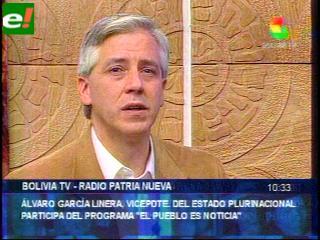 García Linera denuncia campaña de desprestigio contra empresas estatales