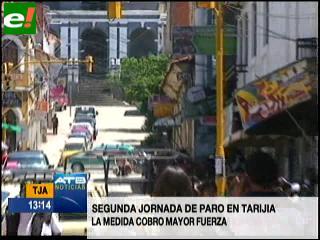 """Campo Margarita: Califican de """"contundente"""" paro realizado en Tarija"""