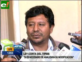 Masistas anuncian que modificarán Ley Corta del Tipnis