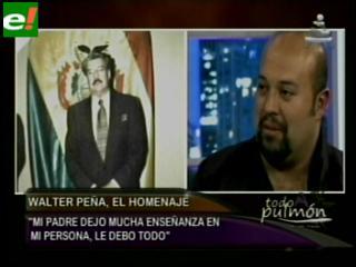"""Hijo de Wálter Peña: """"Mi padre era muy apasionado por su trabajo"""""""