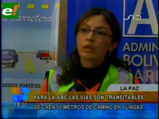 ABC informa que las carreteras están transitables pese a las lluvias