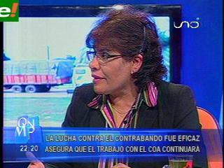 Según la Presidenta de la Aduana, la lucha contra el contrabando el 2011 fue eficaz