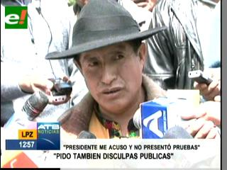 Quispe: Evo debe disculparse por tildar a los indígenas de contrabandistas