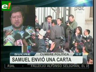 Doria Medina no asistió a la Cumbre política, pide solucionar las muertes de Yapacaní, Caranavi y La Calancha
