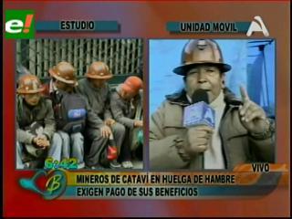 Mineros relocalizados ayunan en La Paz