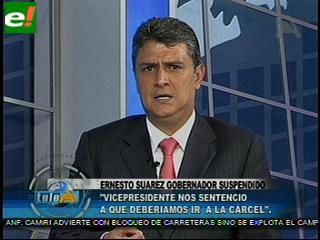 Ernesto Suárez denuncia golpe en su contra ante NNUU y UE