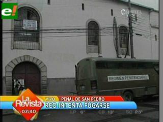 Reo de San Pedro muere tras intento de fuga