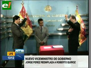 Romero posesionó a Jorge Pérez como nuevo viceministro de Gobierno