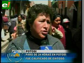 """Califican de """"exitoso"""" el paro en Potosí"""