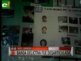 Diprove desarticula banda de delincuentes liderada por ex policía