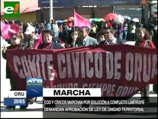 Oruro se movilizó por sus demandas contra el Gobierno