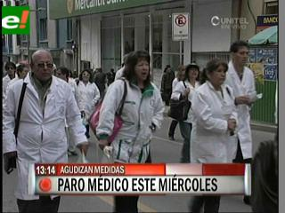 Médicos ratifican paro de 48 horas