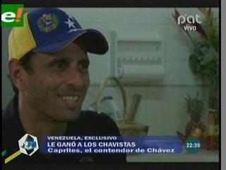 """Capriles se define progresista: """"Nunca perdí una elección y voy por la más importante"""""""