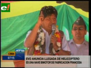 """""""Aunque la oposición proteste"""" Evo estrenará nuevo helicóptero"""