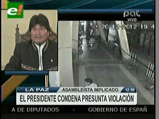 Evo condena escándalo en Asamblea de Chuquisaca y pide que se juzgue a responsables