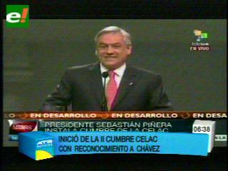 Piñera rindió homenaje a Chávez al inicio de Cumbre de la Celac