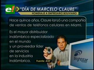 """Condado norteamericano designa al 22 de marzo como el '""""Día de Marcelo Claure"""""""