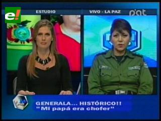 Generala Cristina Cerruto: Mi sueño es ser Comandante General de la Policía