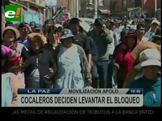 Cocaleros de Apolo bloquean y marchan, y de los Yungas de Vandiola alistan cierre de carreteras