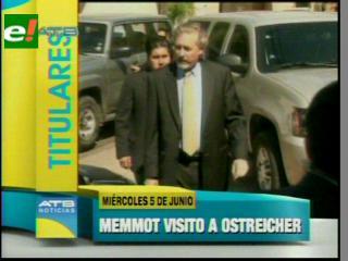 Titulares: Memmott visitó a Ostreicher y otras noticias