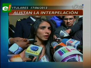 """Titulares: Alistan interpelación a Quintana por """"Evo Cumple"""" y otras noticias"""