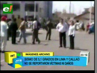 Fuerte sismo de 5.1 grados sacudió Lima y Callao