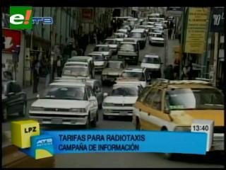 """Alcaldía """"socializa"""" tarifas de radiotaxis; las sanciones se aplicarán desde el próximo lunes"""