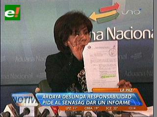 Aduana afirma que harina donada tiene certificación del Senasag y garantiza su consumo
