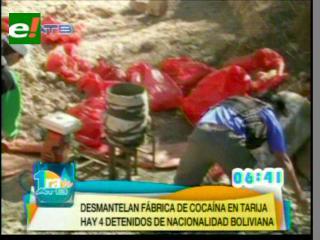 Felcn descubre fábrica de cocaína en Pantipampa