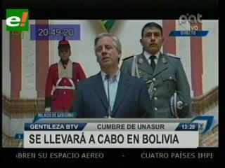 García Linera confirma arribo de presidentes de UNASUR a Cochabamba el jueves