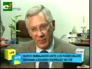 Eduardo Rodríguez, Agente de Bolivia ante La Haya será también embajador en Holanda
