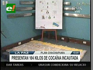 Policía desbarata una banda de narcotraficantes e incauta 104 kilos de cocaína