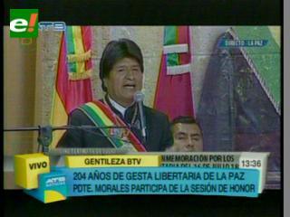 Evo y Cocarico piden mayor inversión en La Paz para convertirlo en un referente del desarrollo