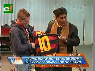 Chumacero partió a Brasil