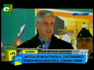 """Vicepresidente califica de pequeños """"Goni"""" a contrabandistas"""
