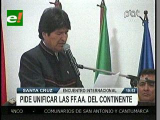 """Evo plantea que FFAA del Alba-TCP se unan ante """"intervención imperial"""" a un país del bloque"""