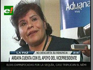 """Ardaya: """"Tengo el apoyo del Vicepresidente"""""""