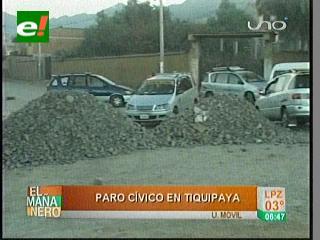 Reportan 9 puntos de bloqueo en Tiquipaya