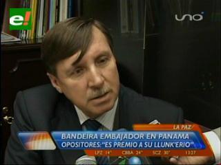 Ex prefecto Bandeira es el nuevo Embajador de Bolivia en Panamá