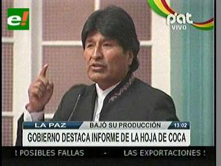 Morales advierte sobre cultivos de coca en serranías